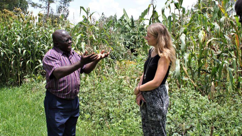 Irina, Projektleiterin Kenia im Gespräch