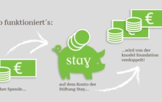Spendenkonzept Stay & knodel foundation