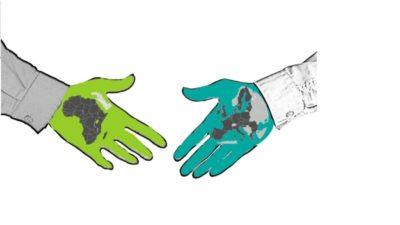 Zeichnung Hände reichen