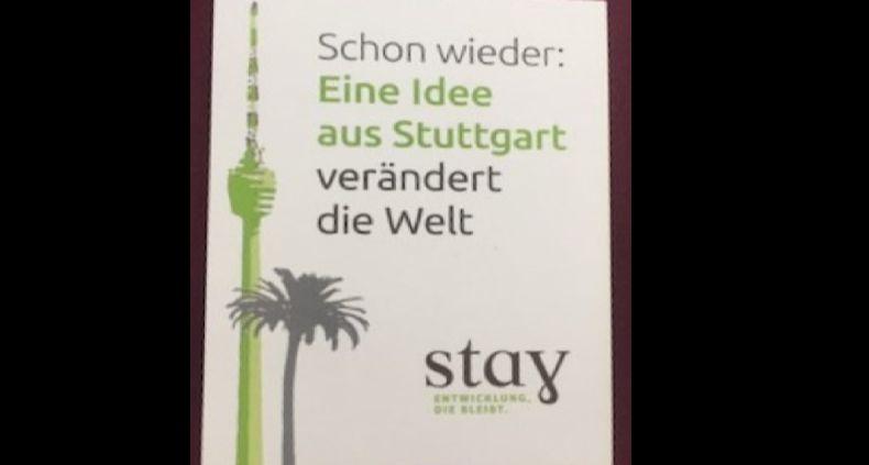 "Plakat Flyer ""Stay verändert die Welt"""